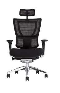 Fauteuil de bureau ergonomique MIRUS Assise capitonnée - Base noire