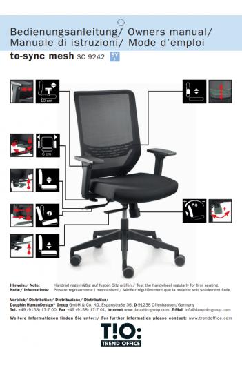 Fauteuil ergonomique To Sync de DAUPHIN