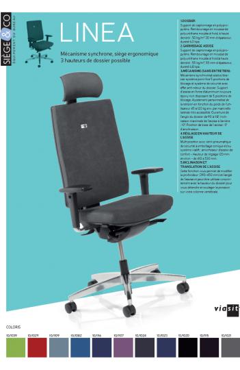 Fauteuil ergonomique Linea de Viasit + Tetière