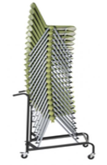 Chaise de collectivité RAVE - 4 pieds - Pietement alu