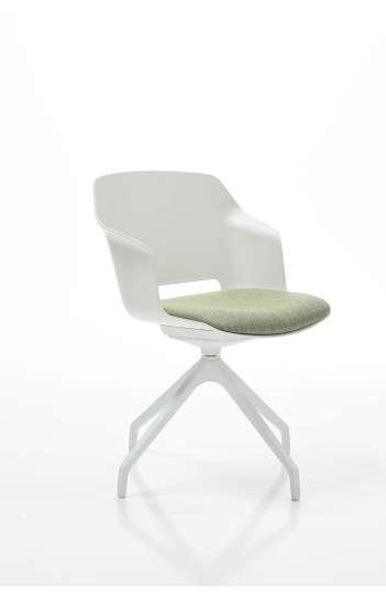 Chaise design d'accueil avec assise rembourée - POLCA