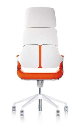 Fauteuil direction ergonomique Couleur laqué epoxy blanc - SILVER de Interstuhl