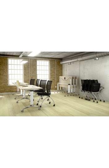 Table rabattable semi montée 180 x 70 - Gamme NET