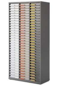 Armoire 3 colonnes ASP666E avec serrure