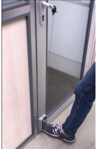 Systeme Protect Open - Ouverture de porte avec le pied - Kit de 2 jeux