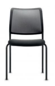 Chaise 4 pieds To-Sync de DAUPHIN - Dossier résille