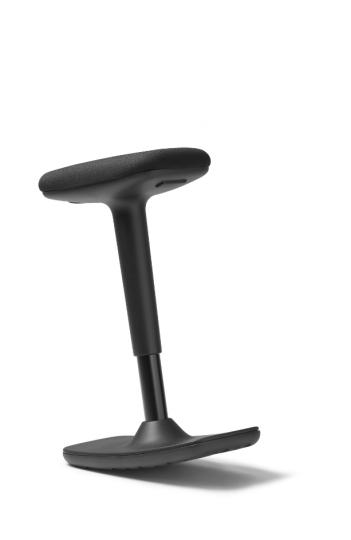 Tabouret assis debout ergonomique Swift - Structure noire