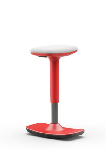 Tabouret assis-debout ergonomique Swift - Structure rouge