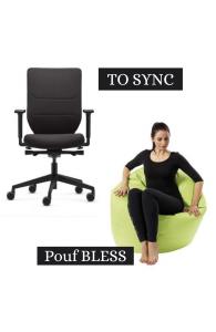 OFFRE SPÉCIALE - 1 siège To Sync acheté = 1 pouf Bless OFFERT
