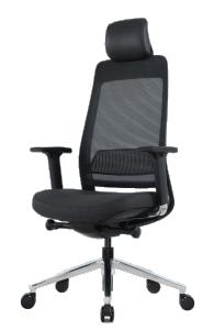 Fauteuil ergonomique structure noire - Faxblack