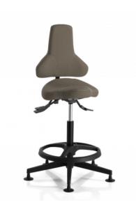 Chaise d'atelier simili cuir - HOBBIT 249 avec repose pieds