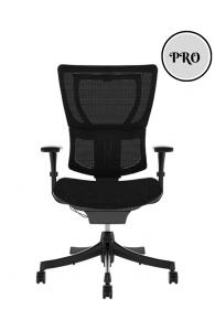 Fauteuil de bureau ergonomique MIRUS PROJECT- Base Noire / Tissu KMD - Sans têtière