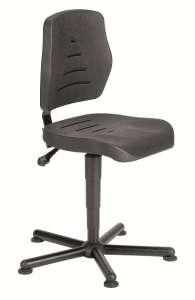 Chaise atelier polyuréthane noir ref 01084  pour personne forte maxi 150 kgs sur patins