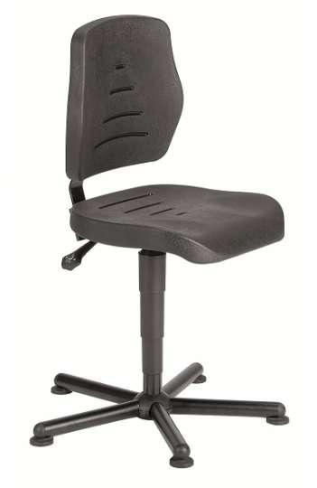 Chaise atelier polyuréthane noir ref 01084  pour personne forte maxi 150 kgs sur patins ref : 01084