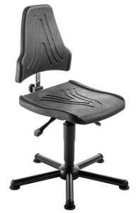 Chaise atelier ESD polyuréthane pour personne forte maxi 150 kgs sur patins