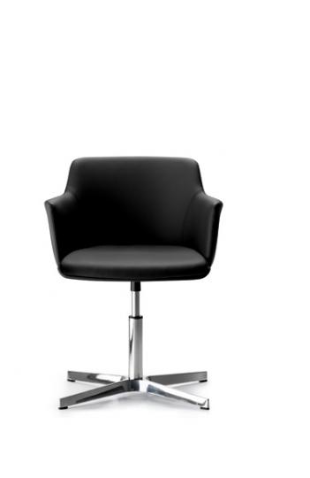 fauteuil de bureau visiteur cuore pi 4 branches. Black Bedroom Furniture Sets. Home Design Ideas