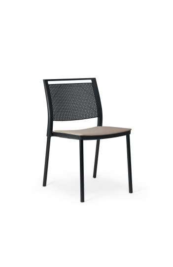 Chaise 4 pieds Kool de Forma 5, Structure noire SKL00010B