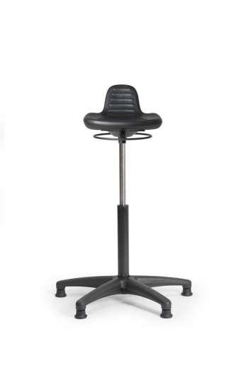 Assis debout  polyurethane noir ref : ADTOPPRCVMP top 3 reglable par manette circulaire verin moyen patins