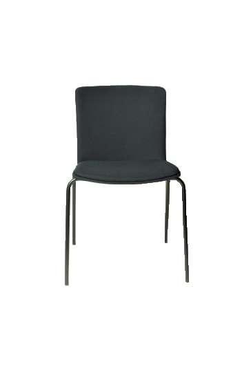 Chaise Glove de Forma 5 totalement tapissée, pietement noir  SGL53010B
