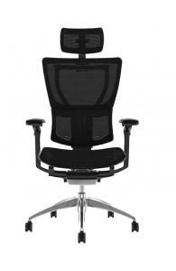 Fauteuil de bureau ergonomique MIRUS HAM - Base noire - Tissu KMD