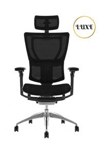 Fauteuil de bureau ergonomique MIRUS LUXE - Base Noire / Tissu KMD