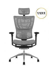 Fauteuil de bureau ergonomique MIRUS LUXE - Base noire - Tissu ZB Mesh