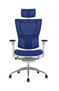 Fauteuil de bureau ergonomique Mirus - Base BLANCHE / Tissu KMD