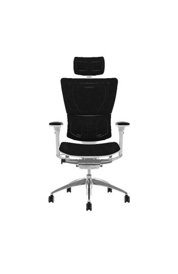 Fauteuil de bureau ergonomique MIRUS HAM - Base BLANCHE - Tissu KMD