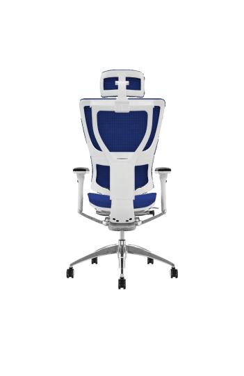 Siege de bureau ergonomique MIRUS HAM - Base BLANCHE - Tissu KMD