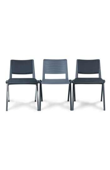 Chaise de collectivité RAVE - 4 pieds - Pietement noir