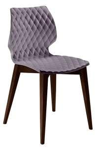 Chaise visiteur pieds bois - UNI 562